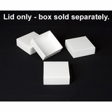 "2889 - 4"" x 4"" x 1 1/2"" White/White Simplex Lid Without Window"
