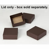 "2892 - 4"" x 4"" x 1 1/2"" Chocolate/Brown Simplex Lid Without Window"