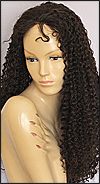 Glueless Lace Front Wig, Chinese Remy hair wig, style WNGL-Curly-M2x3-30, Custom
