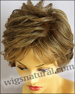 , Mono top hand-tied sides and back wig, color shown toasted sesame