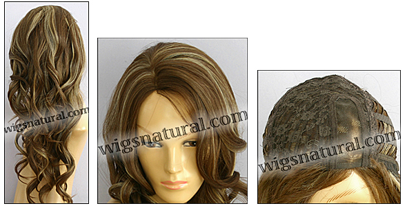 Monofilament wig, BOBBI BOSS Lace mono top wig Shasha, Heat-proof Synthetic hair, color #1083