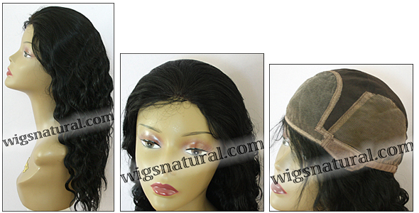 Deep Body Wave Glueless Lace Front Wig, Indian Remy hair wig, style WNGL-DeepBodyWave-1-22, in stock