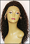 Lace front wig Full Hand-Tied, Glueless Lace Front Wig, Indian remy hair wig, style WNLF-jeriCurl-30HL1B-22, Custom