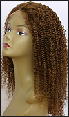 Lace front wig full hand-tied, Glueless lace front wig, Indian remy hair wig, style WNLF-JeriCurl-4-20, custom