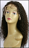 Lace front wig Full Hand-Tied, Glueless Lace Front Wig, Indian Remy hair wig, style WNLF-TightCurl-2-22, Custom