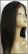 Lace front wig Full Hand-Tied, Glueless Lace Front Wig, Indian remy hair wig, style WNLF-Yaki-1B-16, Custom