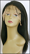 Lace front wig Full Hand-Tied, Glueless Lace Front Wig, Indian remy hair wig, style WNLF-YakiStraight-1B-22, Custom