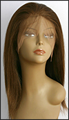 Lace front wig Full Hand-Tied, Glueless Lace Front Wig, Indian remy hair wig, wig style WNLF-YakiStraight-4-16, Custom