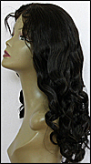 Glueless Lace Front Wig, Indian Remy hair wig, style WNGL-BodyCurl-1-26, Custom
