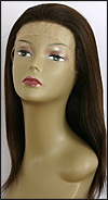Glueless Lace Front Wig, Indian Remy hair wig, style WNGL-YakiStraight-2-16, Custom
