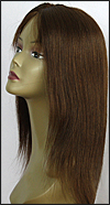 Glueless Lace Front Wig, Indian Remy hair wig, style WNGL-Yaki-4-18, Custom