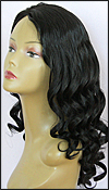 Glueless Lace Front Wig, Indian Remy hair wig, style WNGL-BodyCurl-1B-22, Custom