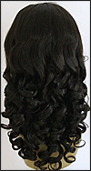 Glueless Lace Front Wig, Indian Remy hair wig, style WNGL-BodyCurl-1B-26, Custom
