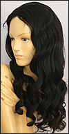 Glueless Lace Front Wig, Indian Remy hair wig, style WNGL-bodywave-1B-26, Custom
