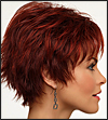 Envy mono top wig Genny (color shown dark red)