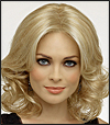 Envy lace front mono part wig Ashley, (color shown light blonde)