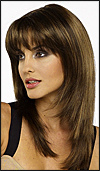 Envy mono part wig Leyla (color shown medium brown)