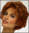 Envy open top wig Bryn (color shown lighter red)
