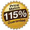 Get the Lowest Price - with our Price Match Guarantee