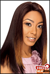 LACE WIG CH-FALLON, Sister Chiffon Double Lace Front Wig, Remy fiber lace front wig, in stock