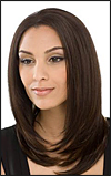 SEPIA Lace Front Wig Pearl, Heat-Resistant Futura Synthetic Fiber, in stock