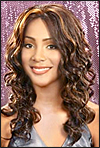 Lace Front Wig, BOBBI BOSS Premium Fiber Hair, style Lace Front Blue, in stock