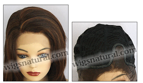 Lace Front Wig, BOBBI BOSS Front Lace Wig MHLF-B, Premium Human Hair, color F4/30