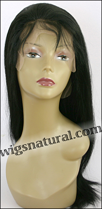 Full lace wig, Virgin Indian Remy hair, natural dark hair color, wig style WN-InVirgin-Straight-N-22, In stock