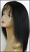 Kinky Straight Full lace wig, Indian remy hair, wig style WN-KinkyStraight-1-16, in stock