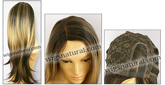 Monofilament wig, BOBBI BOSS Lace mono top wig Sutra, Heat-proof Synthetic hair, color 3T270