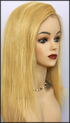 Silk top full lace wig, or Full lace wig, Virgin European hair, virgin Brazilian hair, or virgin Asian hair, style VW-MGBlond-17HL14-18