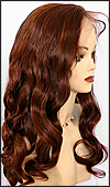 Silk top full lace wig, or Full lace wig, Virgin European hair, virgin Brazilian hair, or virgin Asian hair, style VW-Auburn-BodyCurl-25HL30-24