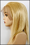 Silk top full lace wig, or Full lace wig, Virgin European hair, virgin Brazilian hair, or virgin Asian hair, style VW-MGBlond-SilkStraight-14-16