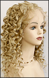 Silk top full lace wig, or Full lace wig, virgin European hair, virgin Brazilian hair, or virgin Asian hair, style VW-LBlond-SpiralCurl-17HL11BL-22