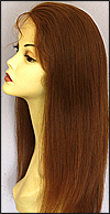 Silk top full lace wig, or Full lace wig, Virgin European hair, virgin Brazilian hair, or virgin Asian hair, style VW-CBrown-TidyStraight-M22x24-18