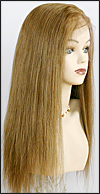 Silk top full lace wig, or Full lace wig, virgin European hair, virgin Brazilian hair, or virgin Asian hair, style VW-MBlond-SilkStraight-10N-22
