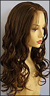 Silk top full lace wig, or Full lace wig, Virgin European hair, virgin Brazilian hair, or virgin Asian hair, style VW-MBrown-BodyCurl-10HL4B-22