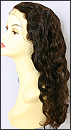 Glueless Lace Front Wig, Virgin European hair, virgin Brazilian hair, or virgin Asian hair, style VWGL-MBrown-BodyCurl-22HL4-22