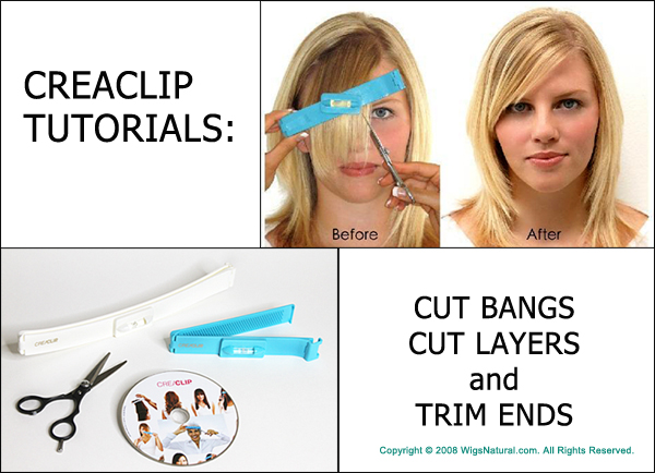 Creaclip Tutorials Cutting Bangs Layers And Trim Ends