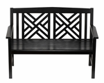 Fretwork Bench - Black