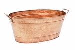 Oval Steel Tub - Copper Plated - Large