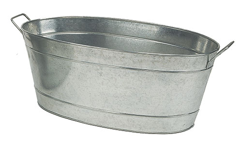 Large Oval Galvanized Steel Tub