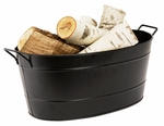 Black Oval Steel Tub