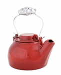 2½ qt. Cast Iron Humidifying Kettle - Red