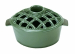 2.2 qt. Enamel Steamer - Lattice Top - Green
