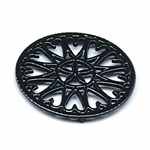 "7"" Sunburst - Cast Iron Trivet - Black"