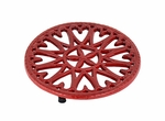"7"" Sunburst - Cast Iron Trivet - Red"
