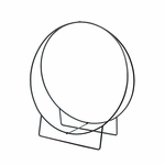 Wrought Iron Wood Hoop -  48
