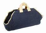 Canvas Log Carrier - Navy/Tan