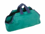 Canvas Log Carrier - Green/Navy